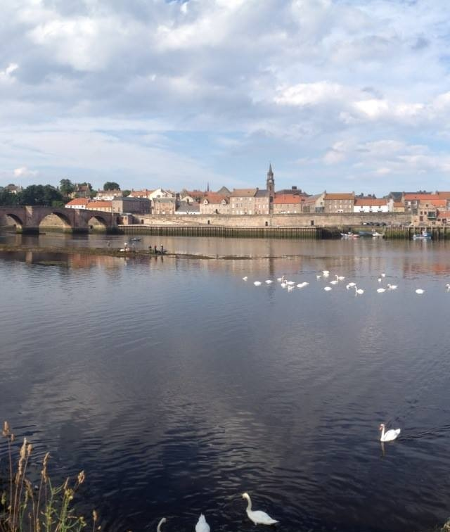A view of Berwick-upon-Tweed from Tweedmouth.